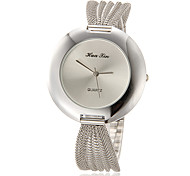 Women's Simple Round Dial Alloy Mesh Band Quartz Analog Wrist Watch (Assorted Colors)