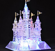 105 Pieces Glittery Musical Crystal 3D Castle Puzzles