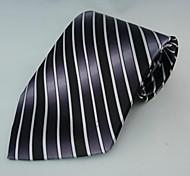 Mode-Streifen Grau Krawatten für Männer