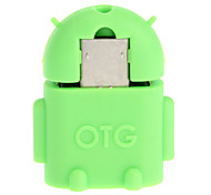 Micro USB 2.0 to USB 2.0 M/F OTG Adapter Green