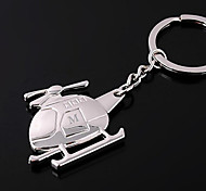 Personalized Engraved Gift Helicopter Shaped Keychain