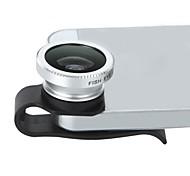 Staccabili clip-on di 180 ° gradi Teleobiettivo Fisheye Fish Eye per cellulari iPhone 4/4S
