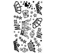5 Stück Krone Wasserdicht Tattoo (10,5 cm * 20,5 cm) HM460