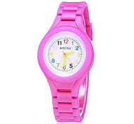 Children's Colorful Dial Silicone Band Quartz Analog Wrist Watch (Assorted Colors) Cool Watches Unique Watches