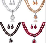 la perla de la boda joyería et (pendiente y collar)