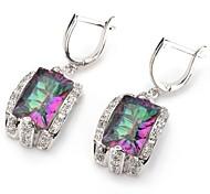 moda 925 argento orecchini arcobaleno rame placcato zircone