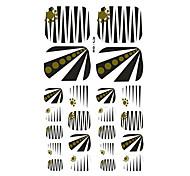 22PCS Heavy Metal Style Lines Cartoon Nail Art Sticker XJ Sery No.6