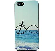 Modelo del ancla en la playa de la caja dura de la PC para el iPhone 5/5S