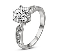 Classic Lady's Wedding Clear Simulated Diamond Ring