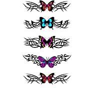 5 Stück Schmetterling wasserdicht Temporary Tattoo (10,5 cm * 20,5 cm) HM322