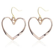 Lureme®Alloy Simple Heart Earrings\