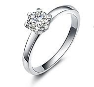 donne claic 0.65ct wi diamante 925 Terling Ilver anello di nozze (1 pz)