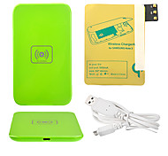 Verde Wireless Power Charger Pad + Cavo USB + ricevitore Paster (Gold) per Samsung Galaxy Nota3 N9000