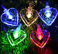 5M 3W 50-LED Double Love Shaped LED Colorful Strip Light (220V)