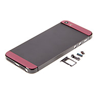 Gray Hard Metal Alloy Back Battery Housing with Buttons and Pink Glass For iPhone 5s