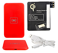 Red Wireless Power Charger Pad + Cabo USB + Receptor Paster (Black) para Samsung Galaxy Note3 N9000