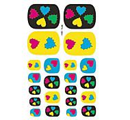 22PCS Colors Of Love Cartoon Nail Art Sticker XJ Sery No.7