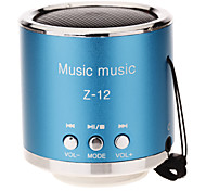 Z-12 arredondado Mini Speaker Suporte TF / SD / USB / FM Radio (azul)