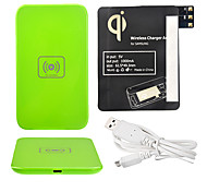 Green Wireless Power Charger Pad + USB Cable + Receiver Paster(Black) for Samsung Galaxy Note3 N9000