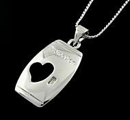Korean Fashion Silver Heart Pendant Necklace(Random Color)