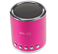 MA-02 Mini Speaker MP3 com TF Slot e Slot U disco e rádio FM