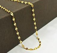 European Golden Titanium Steel Chain Necklace