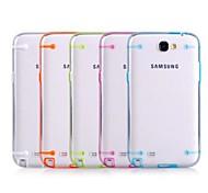 Efecto fluorescente después de encender Transparente de nuevo caso para Samsung N7100 Nota 2 (color al azar)
