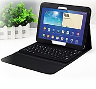 "High Quality Wireless Blue tooth Keyboard Leather Case for Galaxy Tab3 10.1"" P5200 P5210"
