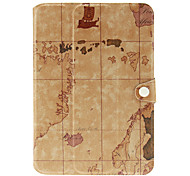 World Map Pattern Protective PU Leather Pouch Case for Samsung Galaxy Note 10.1 N8000