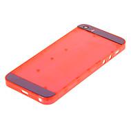 Rote Hartplastik zurück Batteriegehäuse mit blauem Glas für iPhone 5s