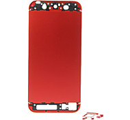 Red Metal Alloy Back Battery Housing with Buttons For iPhone 5