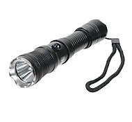 LT-D11R5 Rechargeable 3-Mode Cree XP-E Q5 LED Flashlight (550LM, 1x18650, Black)