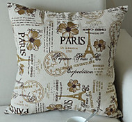 Dreamlike Retro Eoropean Eiffel Tower Decorative Pillow With Insert