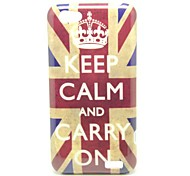 """Keep Calm and Carry On"" UK Flag Pattern Back Cover Hard Case for HTC One V T320e"