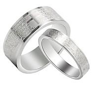 los amantes del vintage biblia del acero inoxidable regalo anillos par de joyas (blanco) (2 piezas)