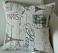 Euro Dreamlike Paris Eiffel Tower Decorative Pillow With Insert