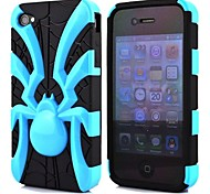 2 in 1 Spider Robot Style PC and TPU Composite Case for iPhone 4/4S(Assorted Colors)