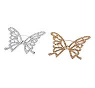 Broche papillon de haute qualité en cristal plaqué or