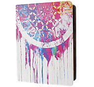 Colorful Flywheel Oil Paint Coloured Drawing Pattern PU Leather Case with Stand for iPad 2/3/4