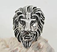 europe et nous la mode anneau de lion en acier inoxydable