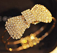 Full Crystal Bowknot Bangle Bracelet