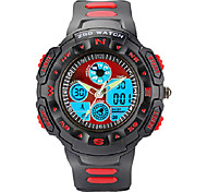 ZGO Children's/Men's LED Dial Silicone Band Quartz Analog Water Resistant Sport Wrist Watch