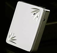 Hojas personalizada Patrón grabados oro USB Mechero Electrónico