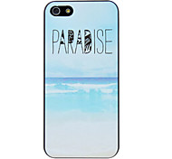 PARADISE Letter Printed and Ocean Pattern PC Hard Case for iPhone 5/5S