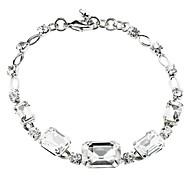 Classic Zircon Claw Chain Bracelet