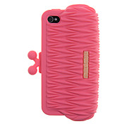 Simple Style Purity Wallet Pattern Silica Gel Back Case for iPhone 4/4S