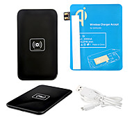 Black Wireless Power Charger Pad + USB Cable + Receiver Paster(Blue) for Samsung Galaxy Note2 N7100