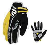 CoolChange Cycling Nylon Yellow Full Finger Gloves