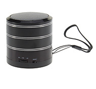 Zylinder Stil Stereo-Lautsprecher mit FM-Radio (schwarz)
