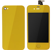 Giallo schermo LCD touch Digitizer Assembly Con Back Cover per iPhone 4s